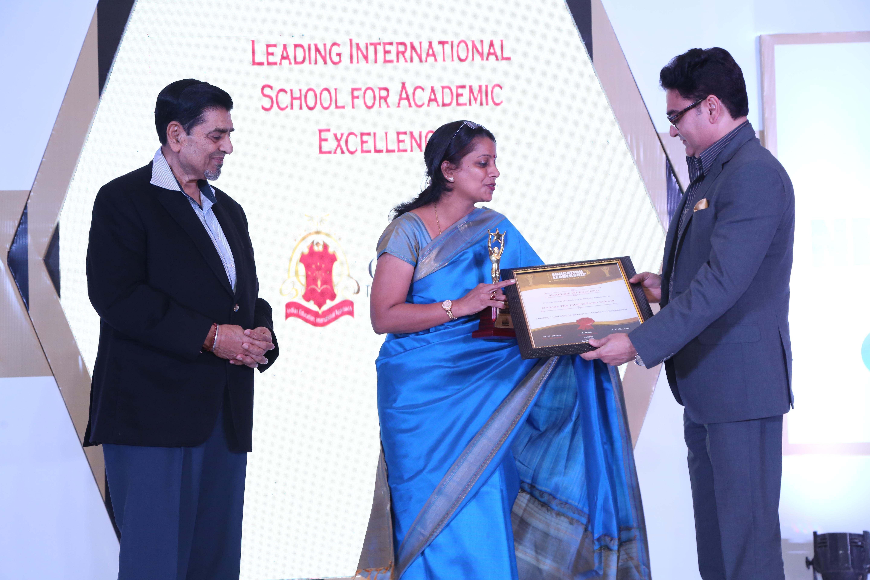 Award received from Mr. Rajiv Mishra
