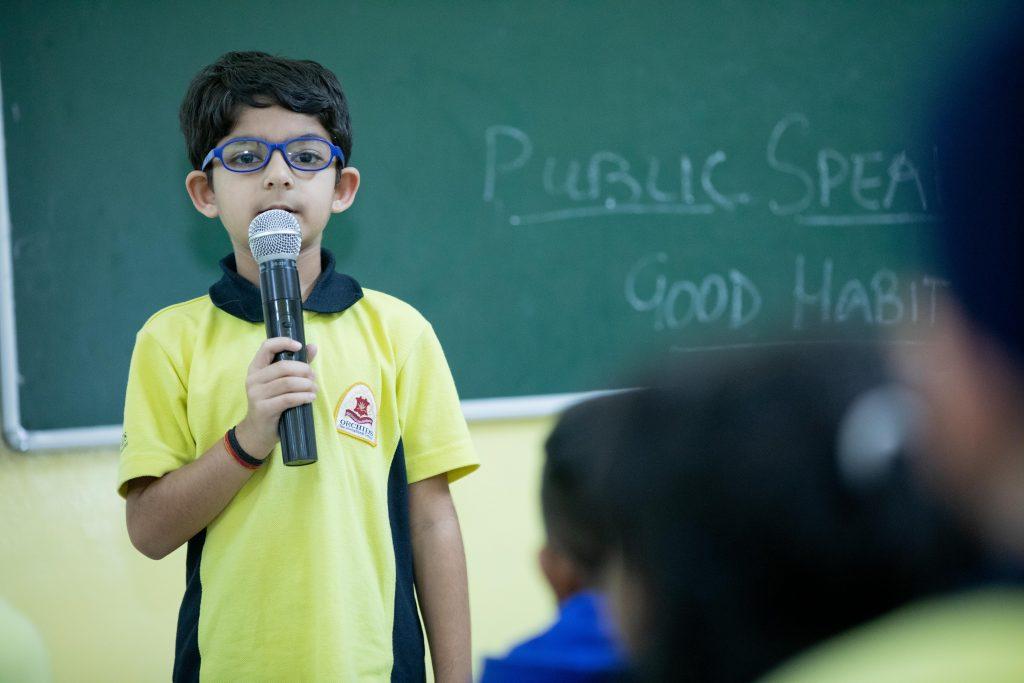 Indulging in activities like poetry recitation is a good way to sharpen Public Speaking skills