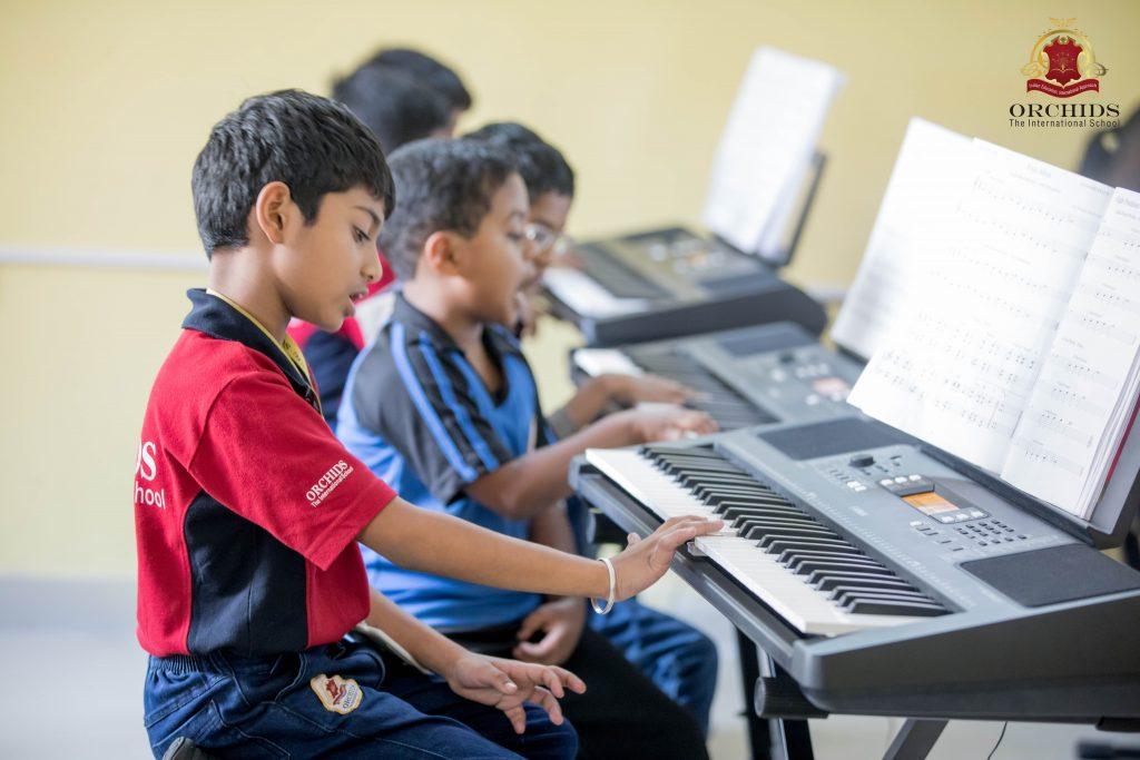 Piano Class in Orchids Undri School Campus
