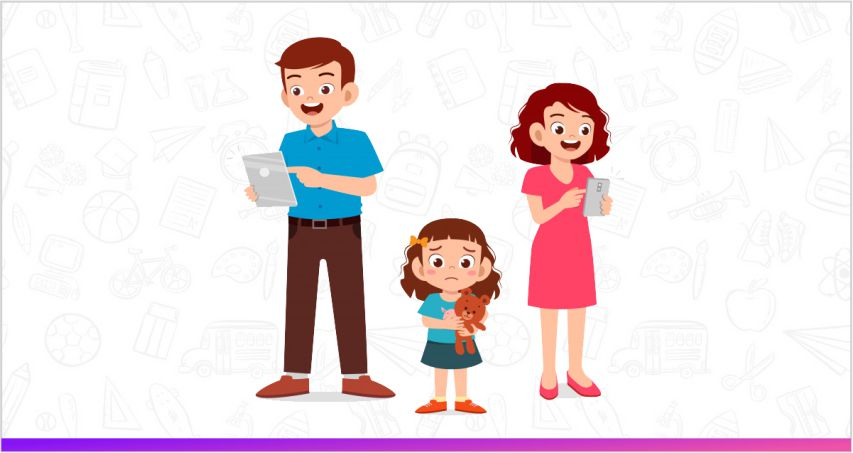 a good parenting tip is to avoid using phone when the child is around