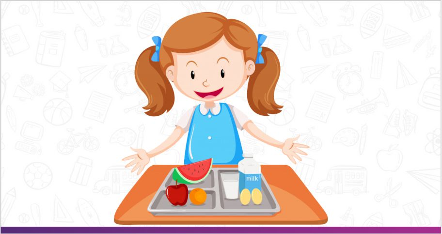 little girl eating health and nutrition food