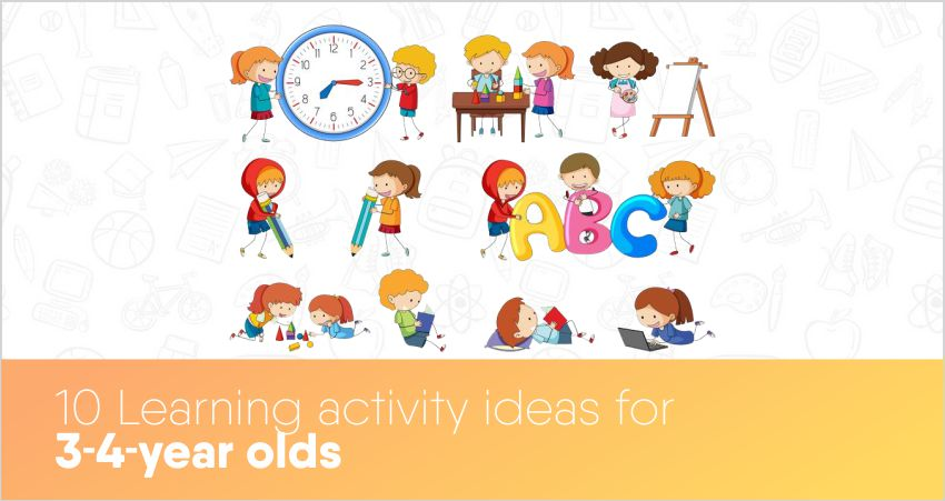 10 Learning activity ideas for 3-4-year-olds
