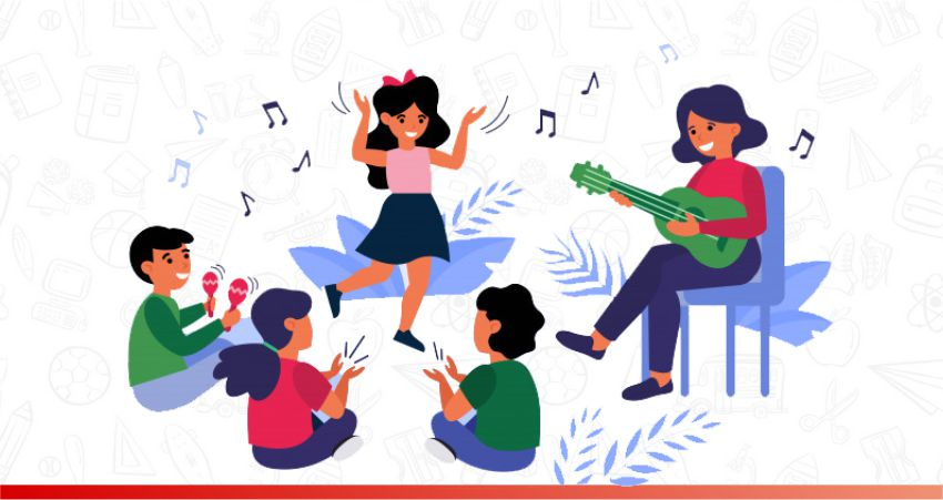 Community-Singing is another learning games for kids