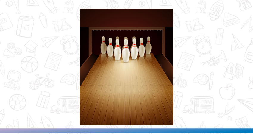 A fun round of indoor bowling is a great activities for kids