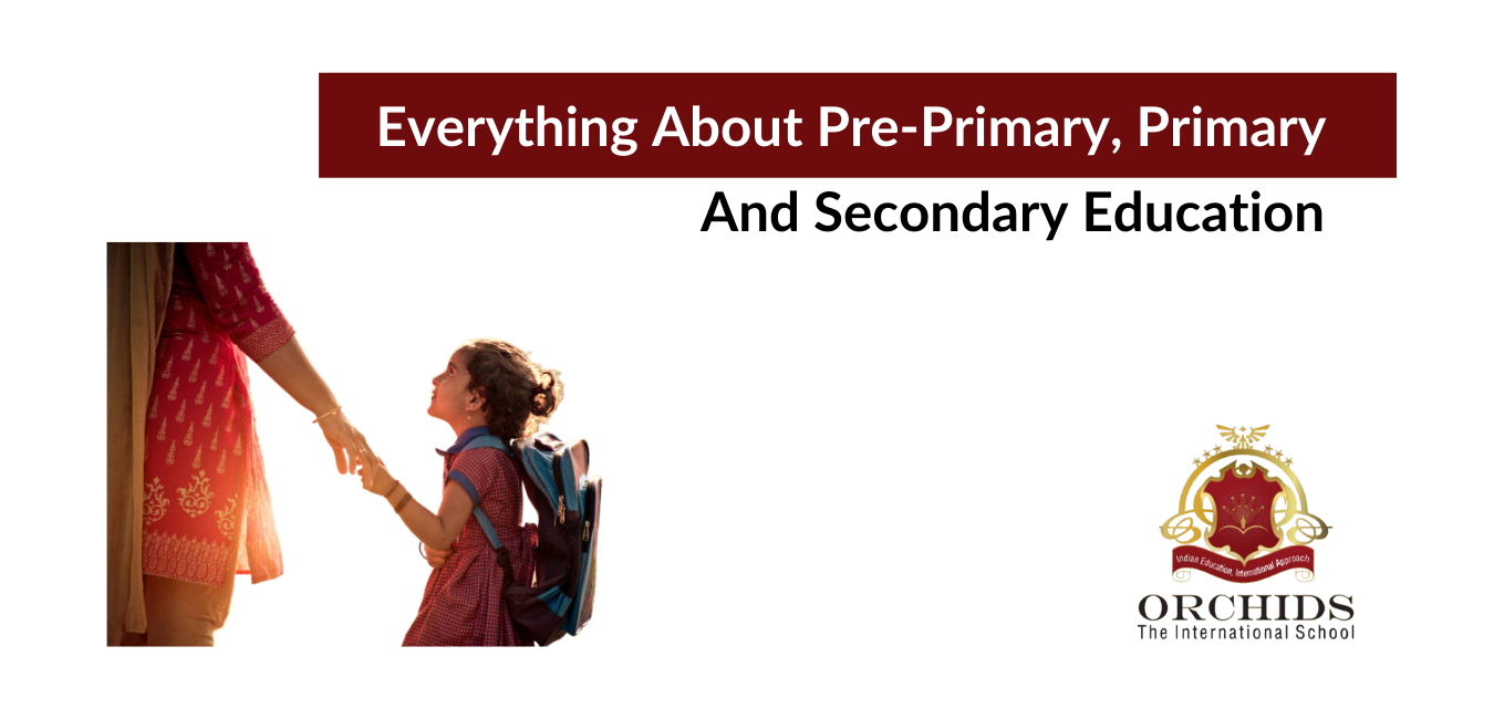 Understanding curriculums – Pre-primary Education, Primary, Secondary.