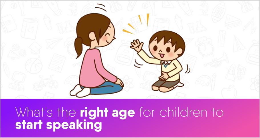 What's the right age for children to start speaking