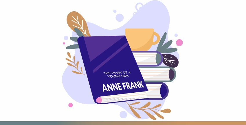 Anne frank- the cover picture of her book