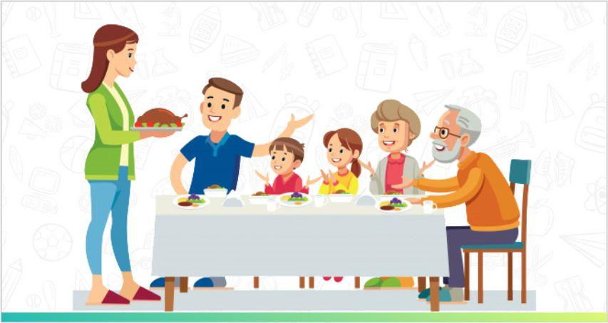 family having mealtime