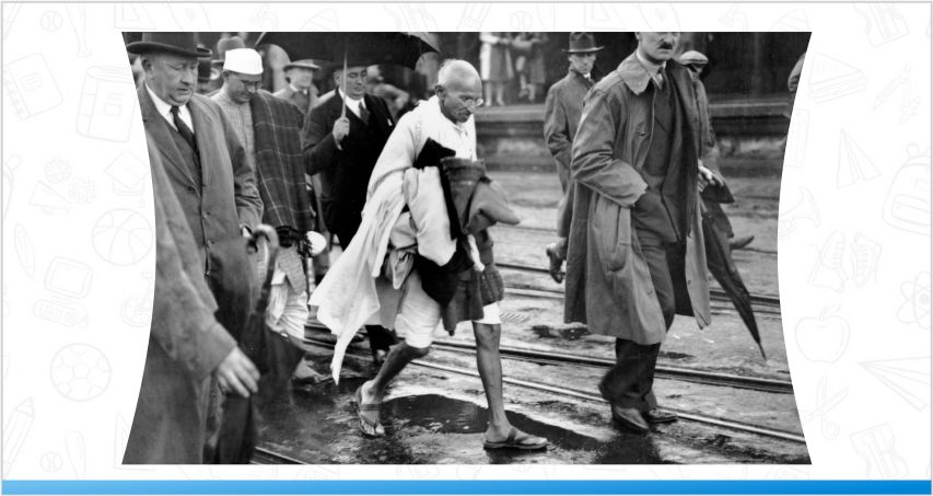 Gandhi visiting foreign countries