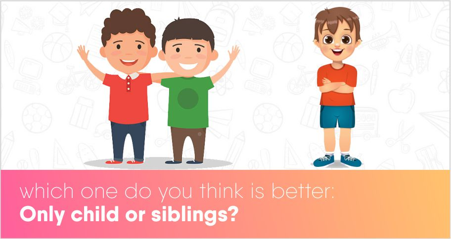 Which one do you think is better: Only child or siblings?