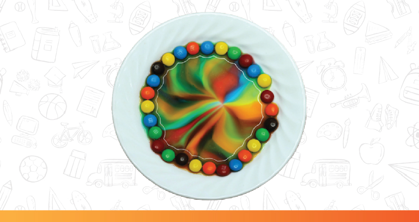 Rainbow M&Ms science experiments for kids