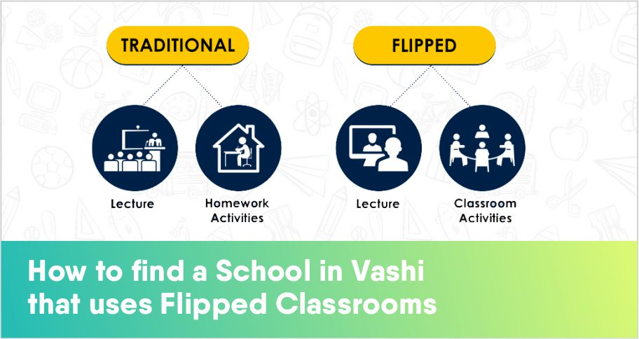 How to find a School in Vashi that uses Flipped Classrooms.