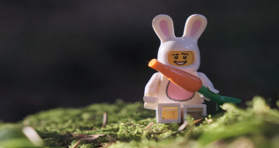 Watching their favourite lego character eating carrot may instill a confident child
