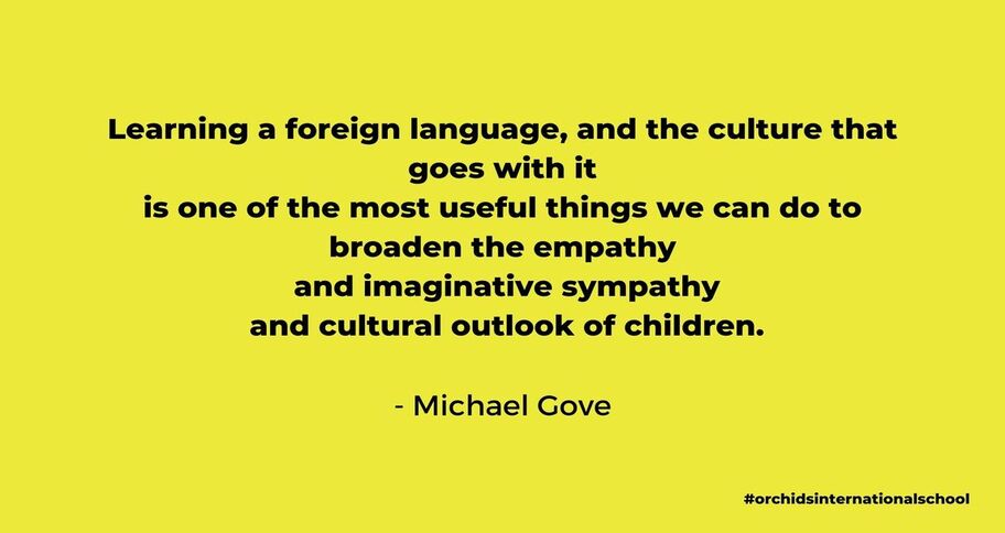 Quote by Michael Gove to teach a second language to kids