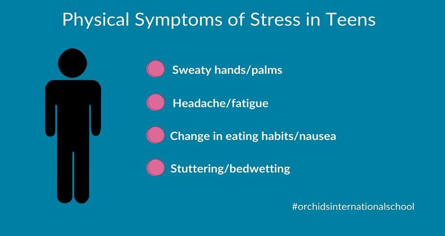 physical effects of anxiety and stress in teens is a common behavior cause