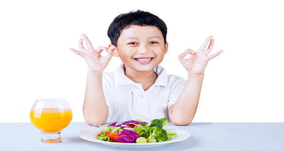 Eating a balanced diet helps build immunity in kids