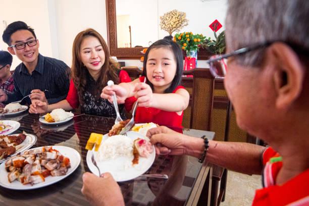 Children learning good etiquette at home