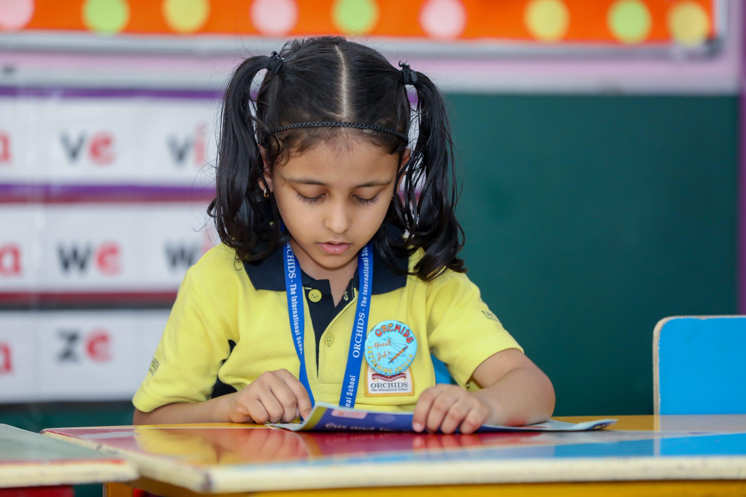 Orchids International School understands the importance of reading in children.