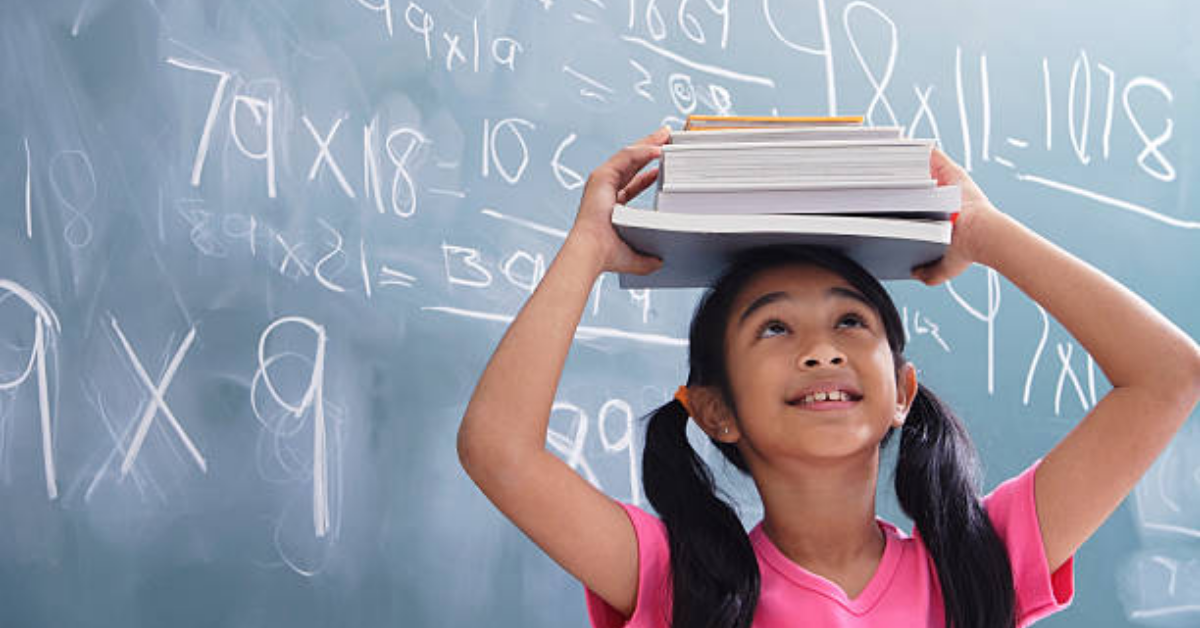 a girl who learn maths from a young age