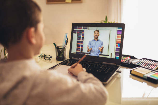 Distance online learning education.