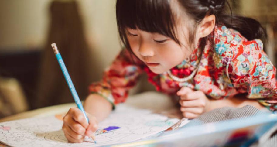 a child showing their Child's Creativity through art