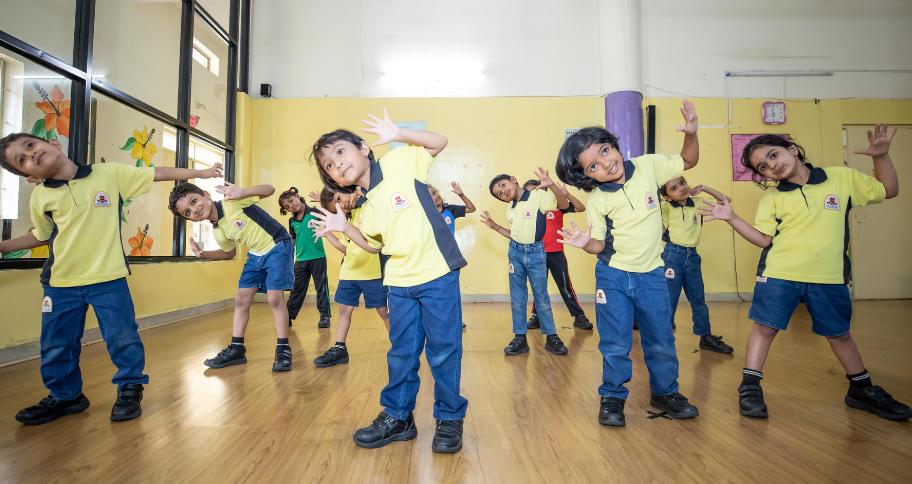 kids dancing in school