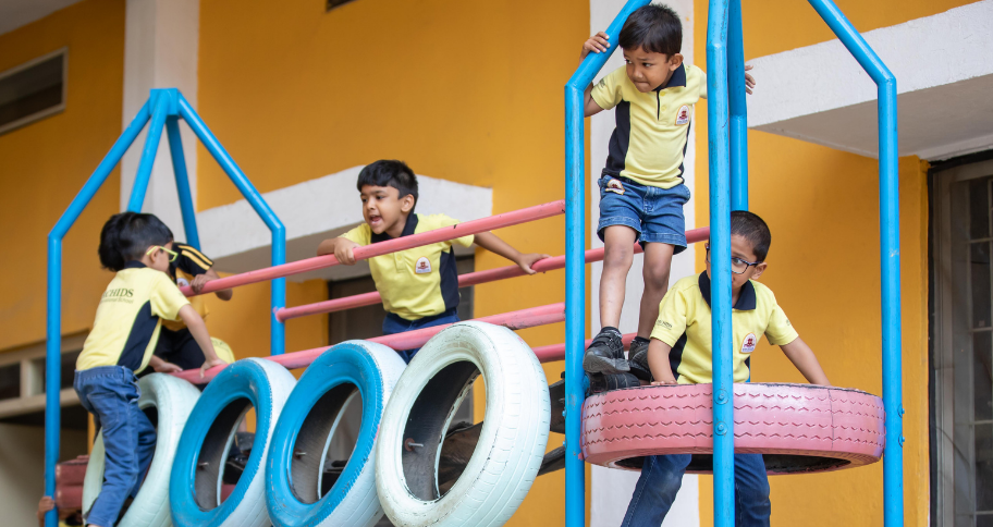 kids involved in physical education in India