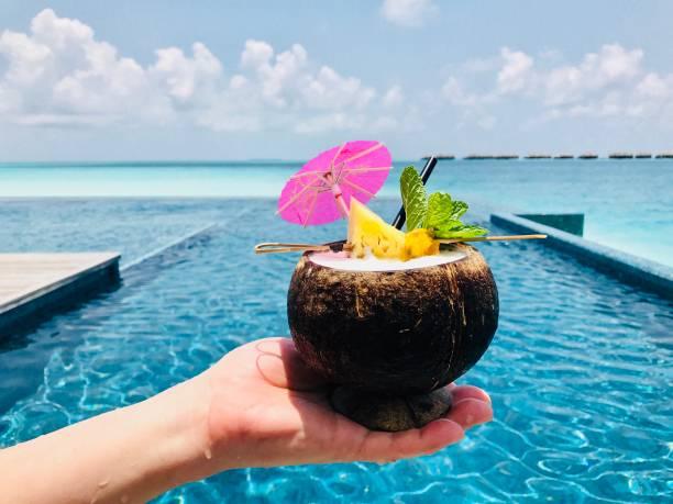 Coconut water in hand